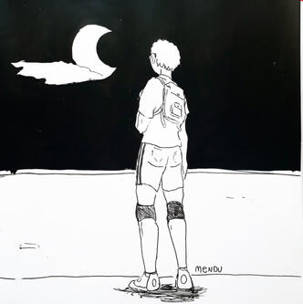 Tsukishima and the moon